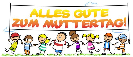 Kinder wünschen zum Muttertag Alles Gute