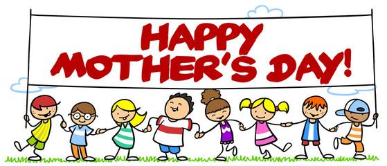 Kinder wünschen Happy Mother's Day!
