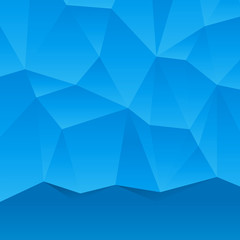 Abstract blue geometric background. Vector Illustration