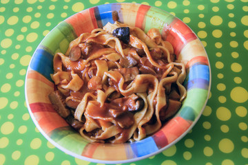 Fettuccine all'uovo, un piatto di pasta gustoso