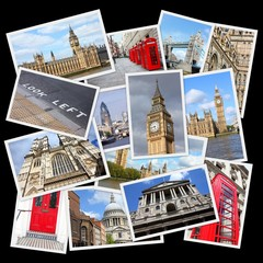 London, UK - travel collage