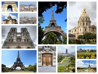 Paris postcard - travel collage