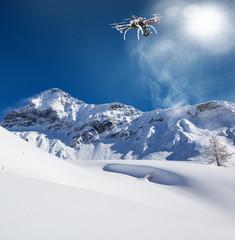 Valmalenco (IT) - Volo con drone con neve fresca