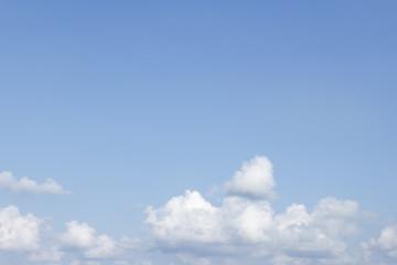 Empty Blue Sky with Cloud