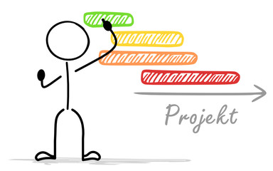 Strichmännchen Projektplanung