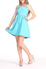 woman legs in dress