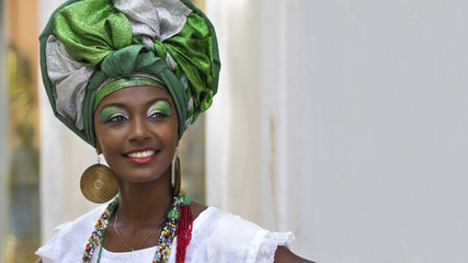 Brazilian Woman in Traditional Attire, Salvador, Bahia, Brazil