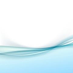 Abstract transparent wave border folder layout