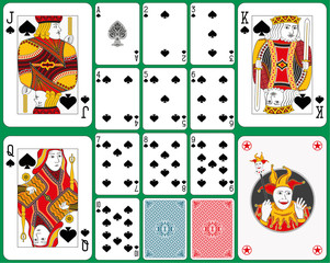 Spades Suite with four large figures
