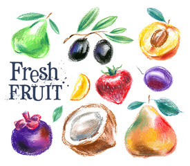 fruit vector logo design template. food or harvest icon.