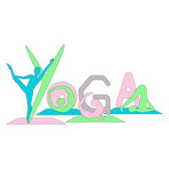 Vector Illustration - Yoga symbol