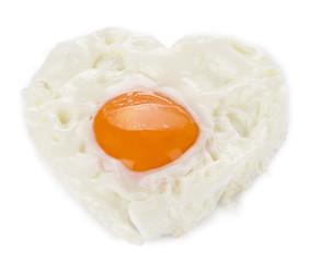 Heart Shaped Egg Isolated