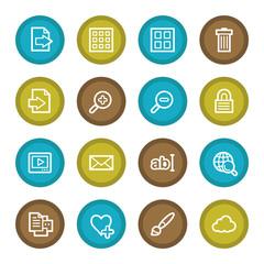 Image viewer web icons set