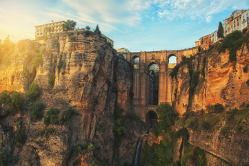 New Bridge in Ronda, Andalusia Wall mural