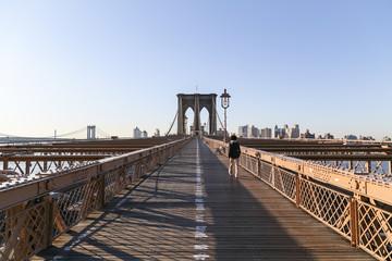 Brooklyn Bridge am Morgen