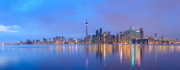 Tuinposter Canada Scenic view at Toronto city waterfront skyline