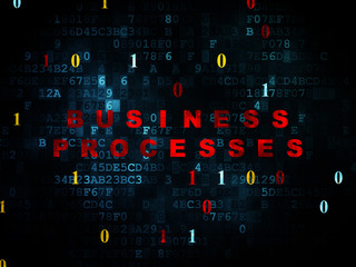 Finance concept: Business Processes on Digital background