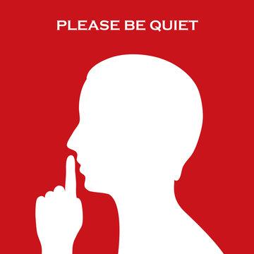 Quiet sign