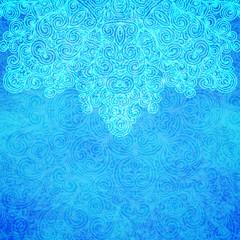 Frosty pattern, vector illustration