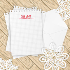Merry christmas letter with snowflakes