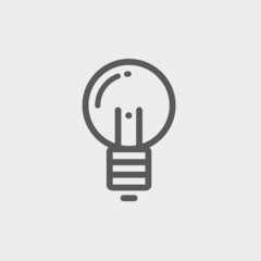 Light bulb thin line icon