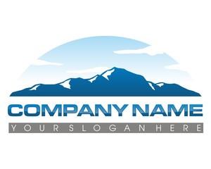 film mountain sky logo image vector