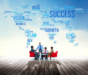 Success Growth Vision Ideas Team Business Plans Connect Concept