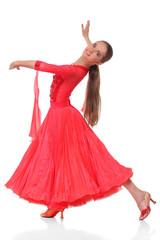 The Latino dancers in ballroom