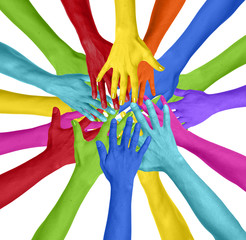 Human Hand Circle Togetherness Connection Teamwork Community