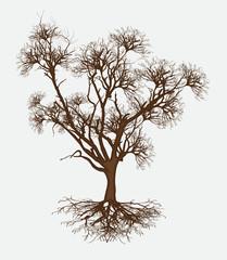 Dead Tree Design Vector