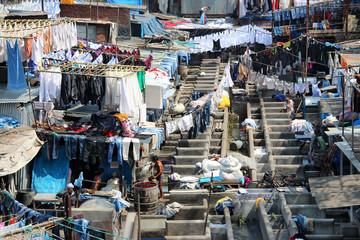 street laundry in Dhobi Ghat, Mumbai