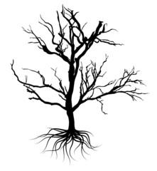 Black Dead Tree Design