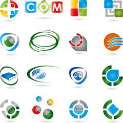 Sammlung von Logos, Icon, Vektor, 3D