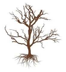 Creepy Dead Tree Vector Design