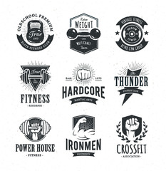 Retro Fitness Emblems