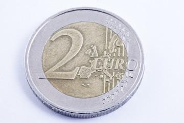 L'euro. la moneta da due euro