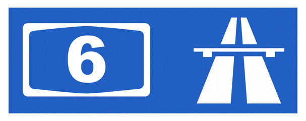 A6-Symbol mit Reflektierung