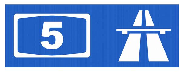 A5-Symbol mit Reflektierung