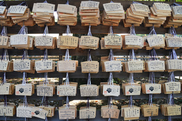 EMA (Wooden Plaques) at Meiji Shrine Shibuya
