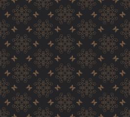 Vector dark background vintage pattern