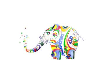 Цветной слонёнок