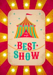 Retro circus poster