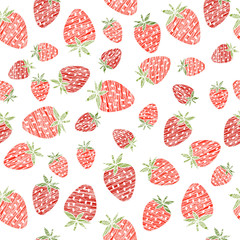Seamless strawberry texture, endless berry background. Abstract