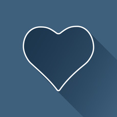 Vector flat isolate game heart icon. Eps10
