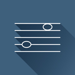Vector white music flat icon outline. Eps10