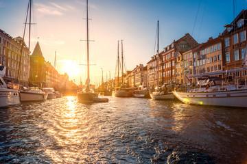 Tuinposter Scandinavië Nyhavn Kopenhagen