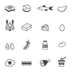 protein food icons