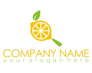 lemon orange fruit logo image vector