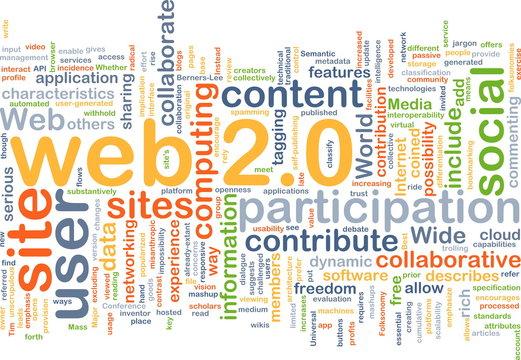 web 2.0 wordcloud concept illustration