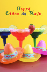 Happy Cinco de Mayo colorful party theme